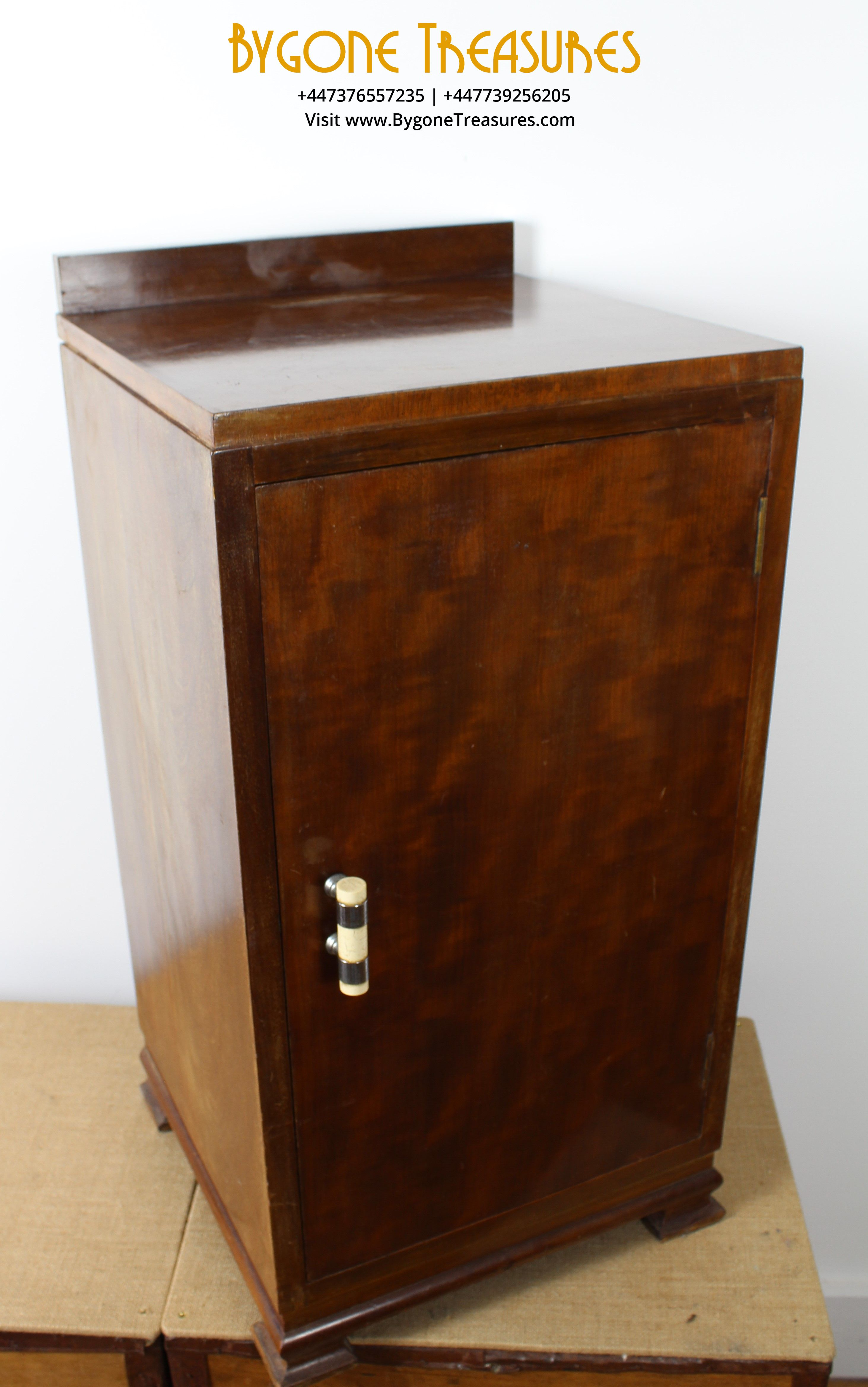1940s WOODEN BEDSIDE CUPBOARD WITH BONE HANDLE (3)_result