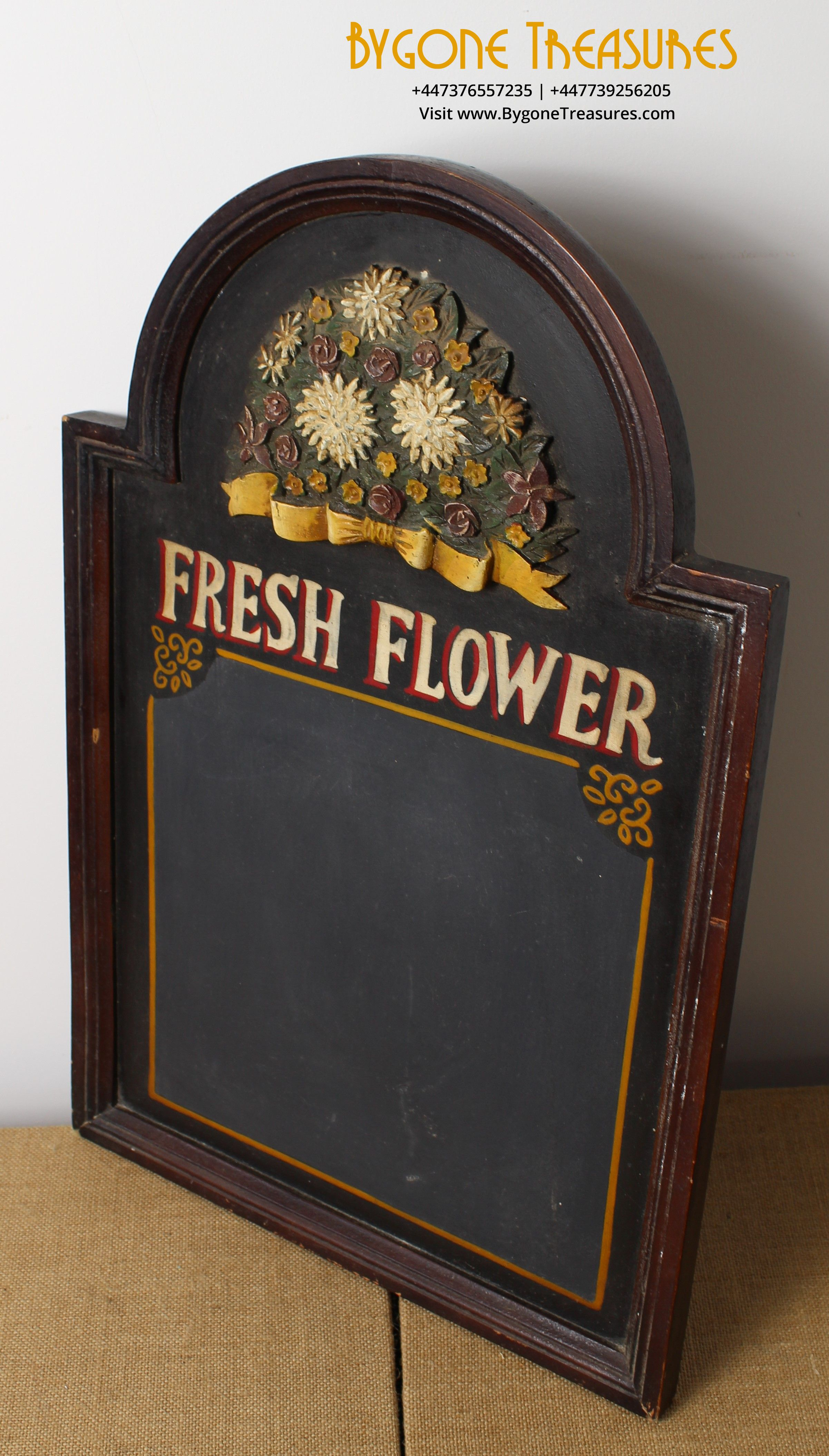 Vintage Fresh Flower Sign with blackboard and relief (3)_result