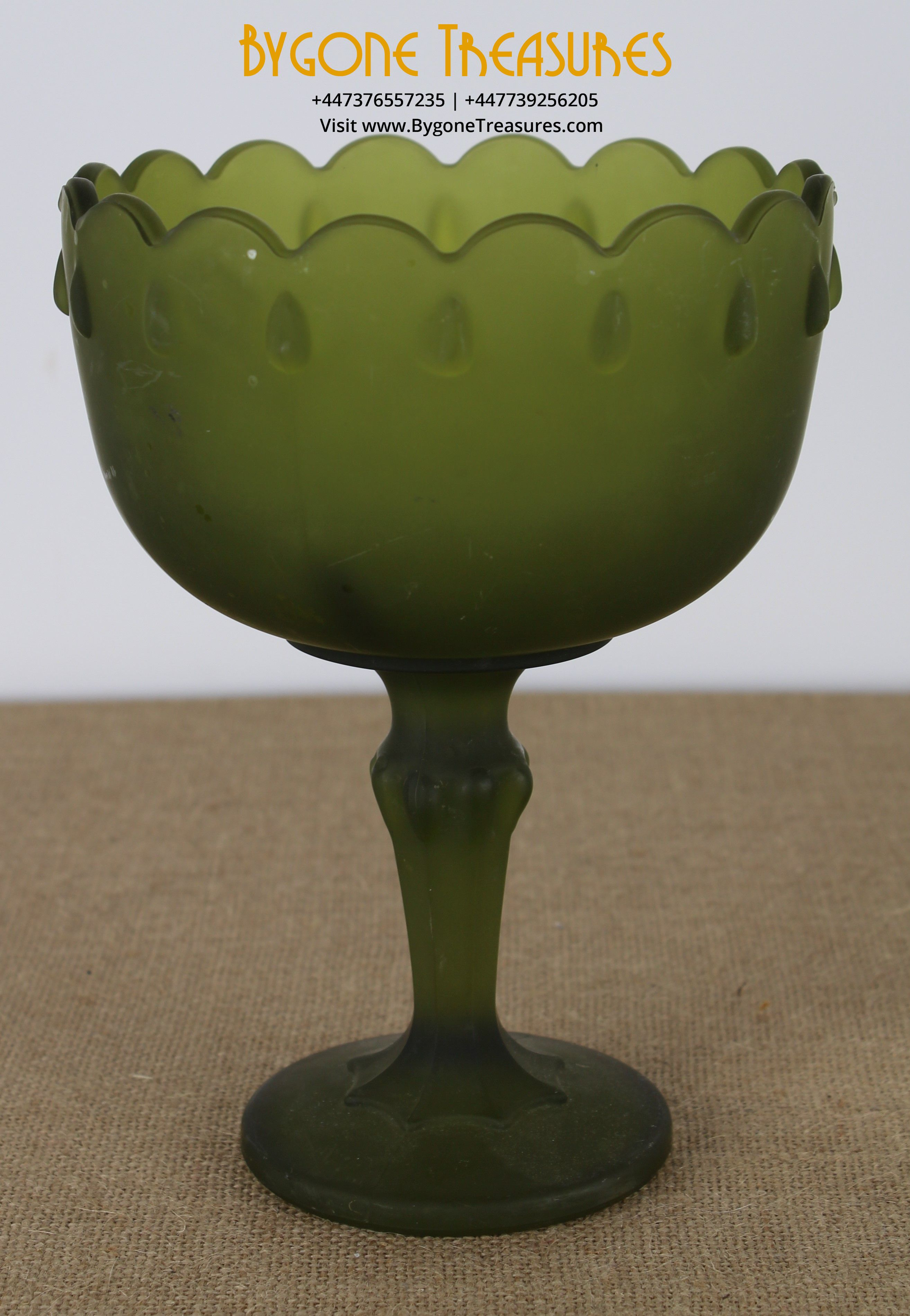 autumn green frosted soft finish glass goblet – bon bon dish (1)