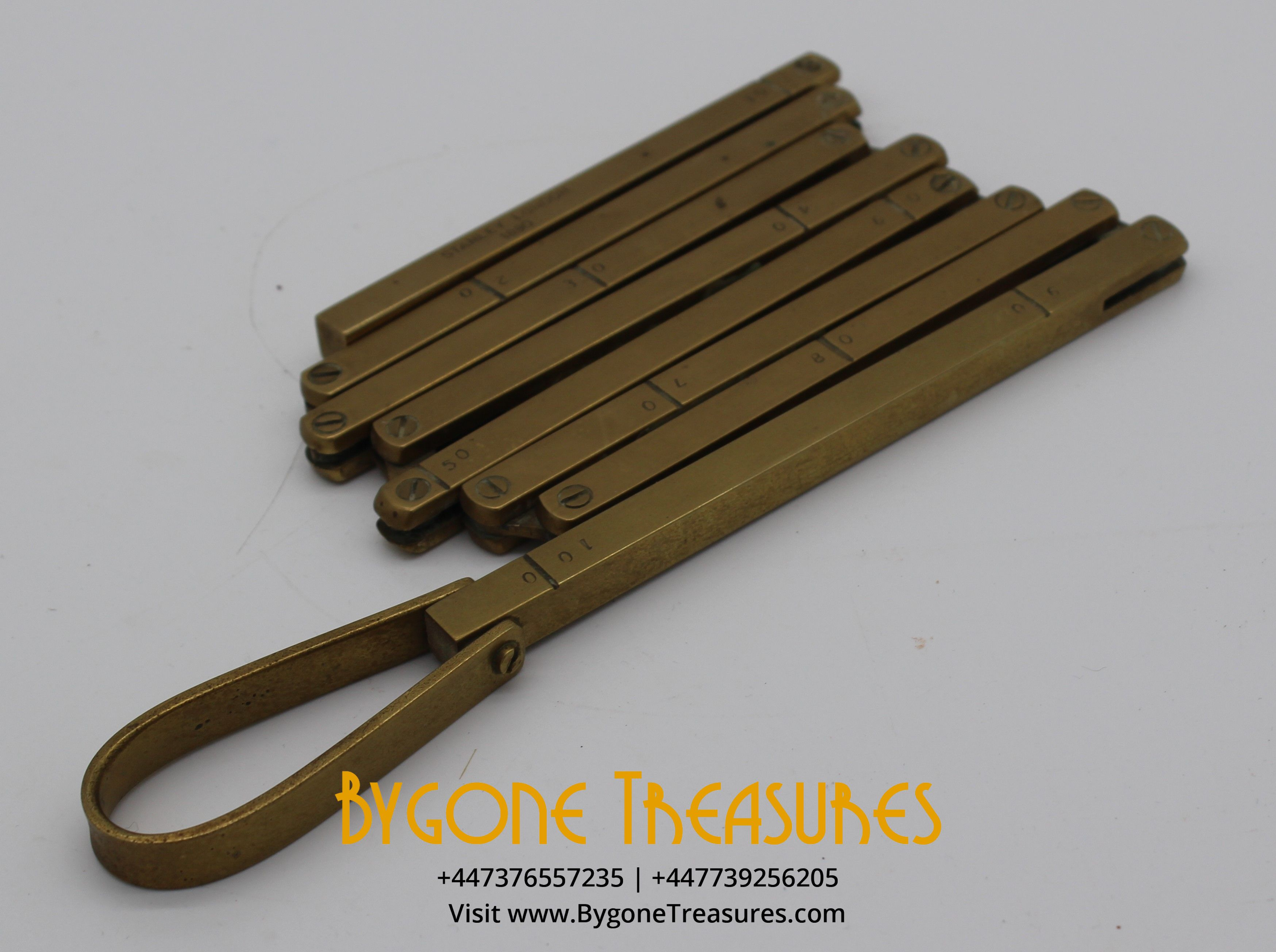 Stanley Brass Folding Ruler 1890 (1)