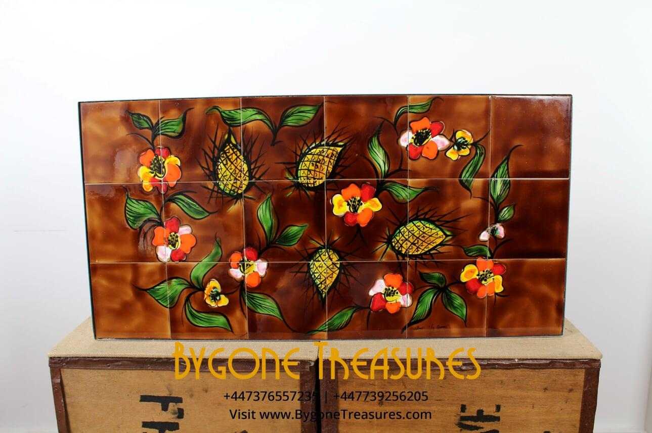 Vallauris 1960's Table – Floral and Fruits