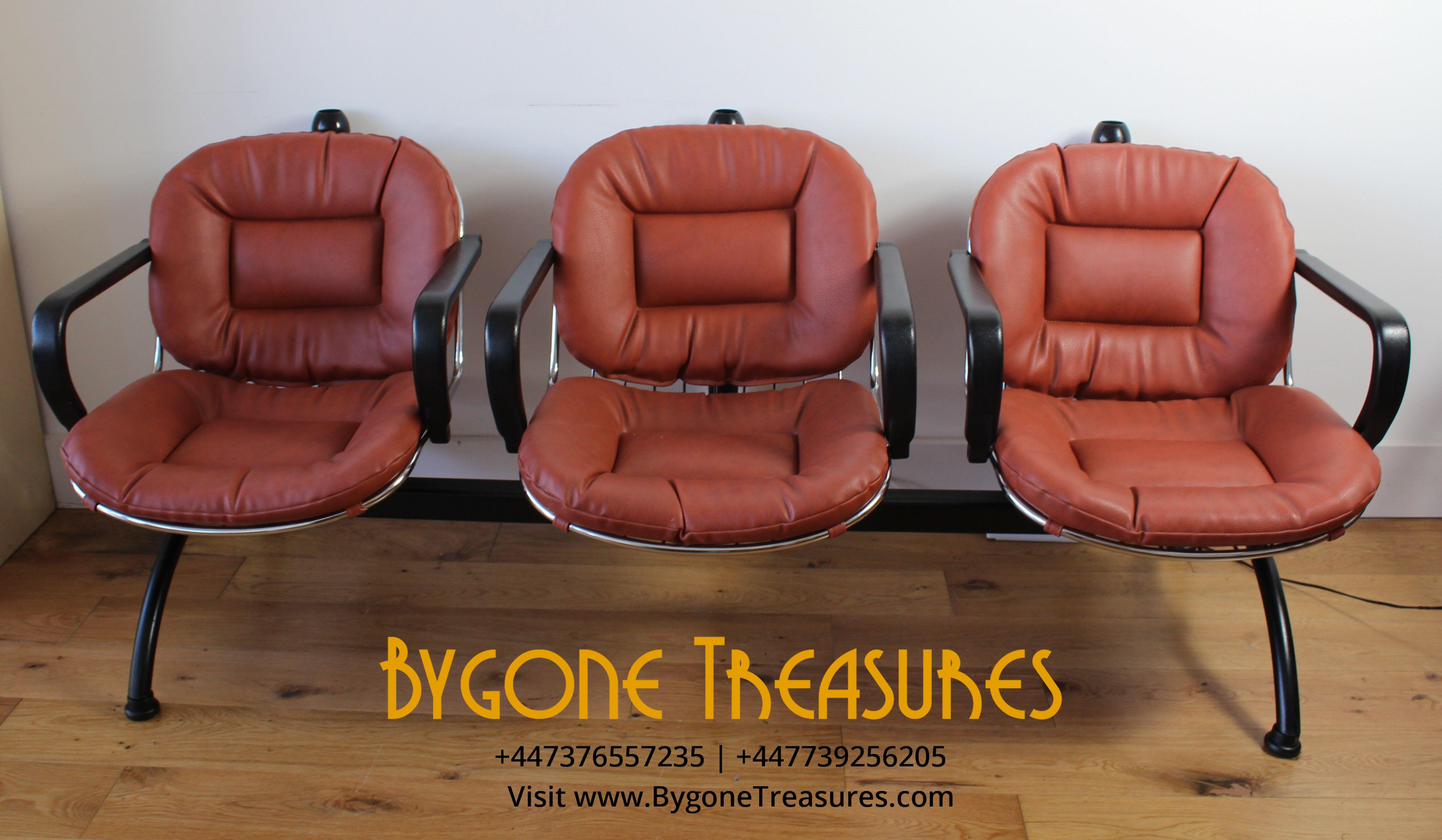 Vintage Hair Salon three seat bench seat (1) (1)